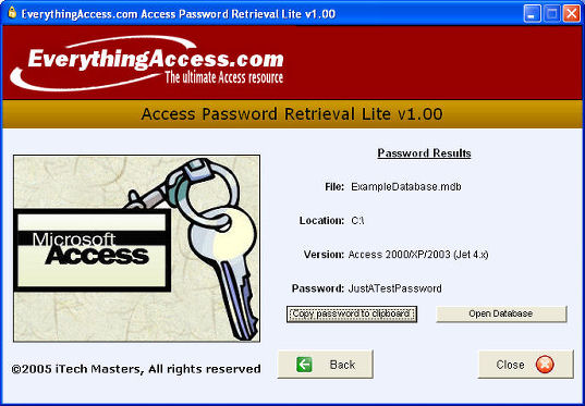 FREE Access Password Retrieval